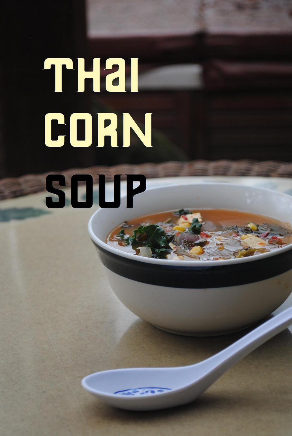 thai corn kale soup