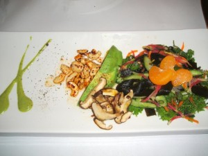 Raw sea vegetable and avocado salad - Millennium