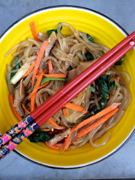 Raw Vegan Japchae