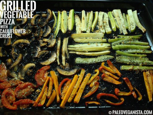 Grilled Vegetable Pizza with Cauliflower Crust
