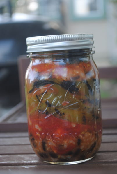 Lunch in a Jar w/ Fire Roasted Peppers