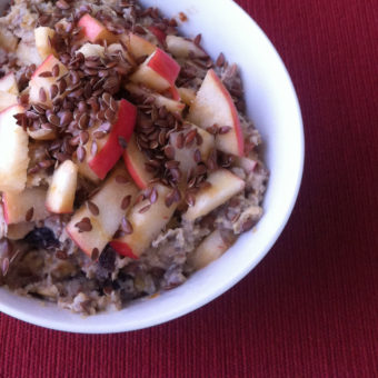 Apple Banana Fauxtmeal w/ Flax