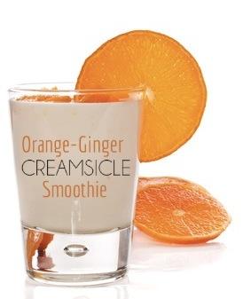 orange ginger creamsicle smoothie