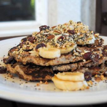 Chia, Hemp & Almond Banana Pancakes