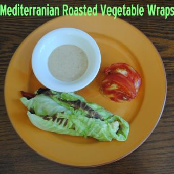 Mediterranean Roasted Vegetable Wraps + Lemon-Tahini Sauce. Low-Carb. Oil Free. Vegan.