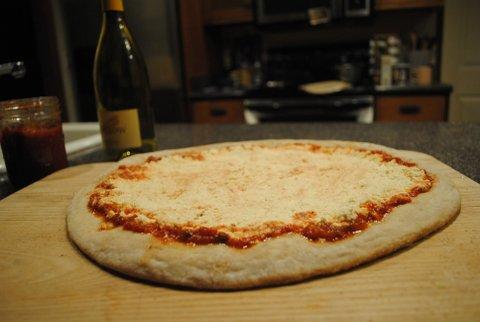 vegan ricotta cheese pizza