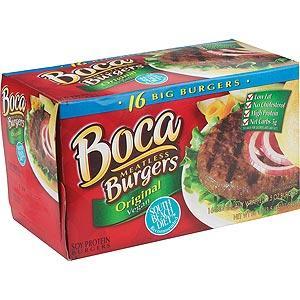 boca vegan veggie burgers original