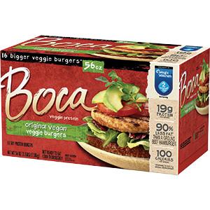 boca vegan veggie burgers