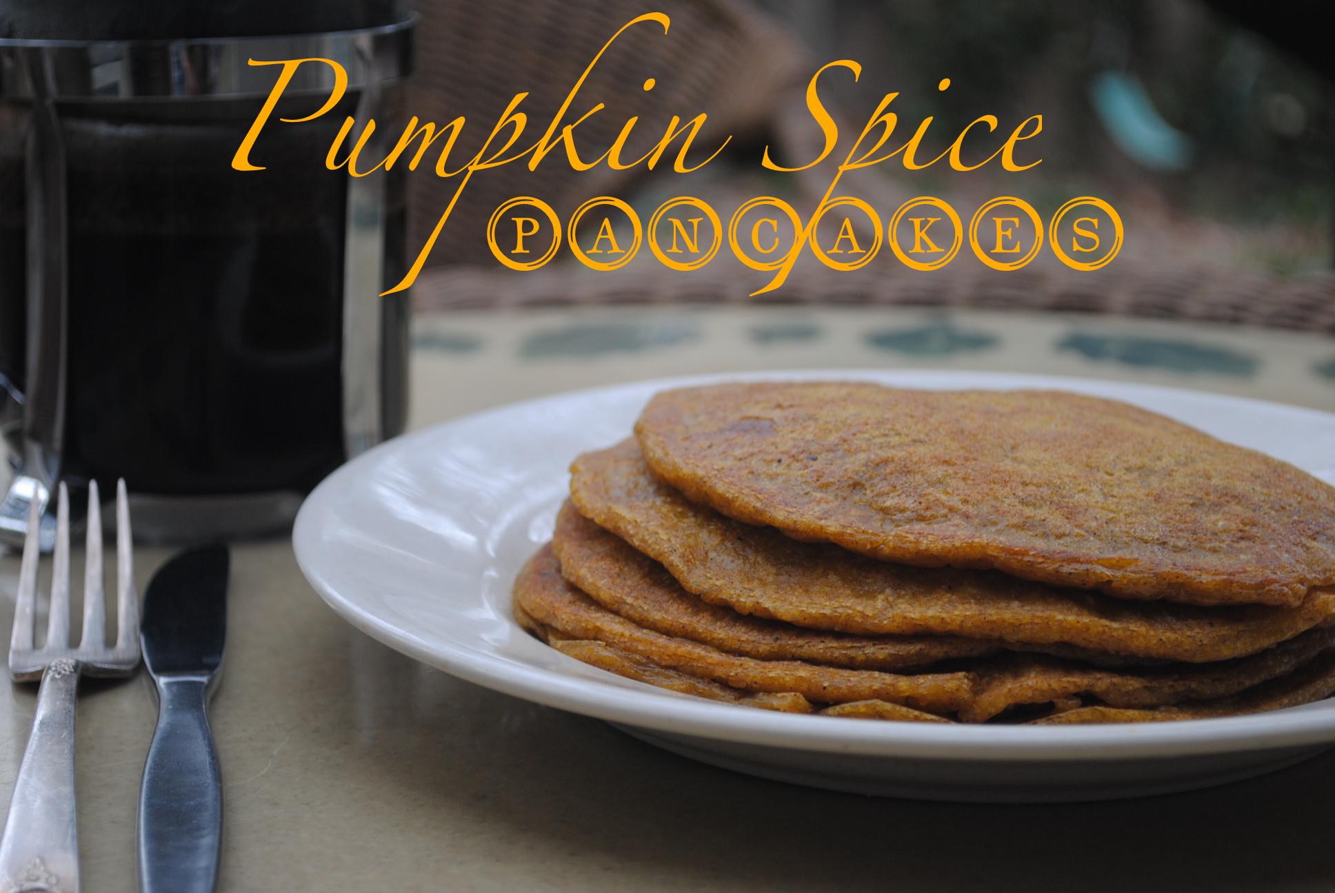 vegan paleo pumpkin spice pancakes