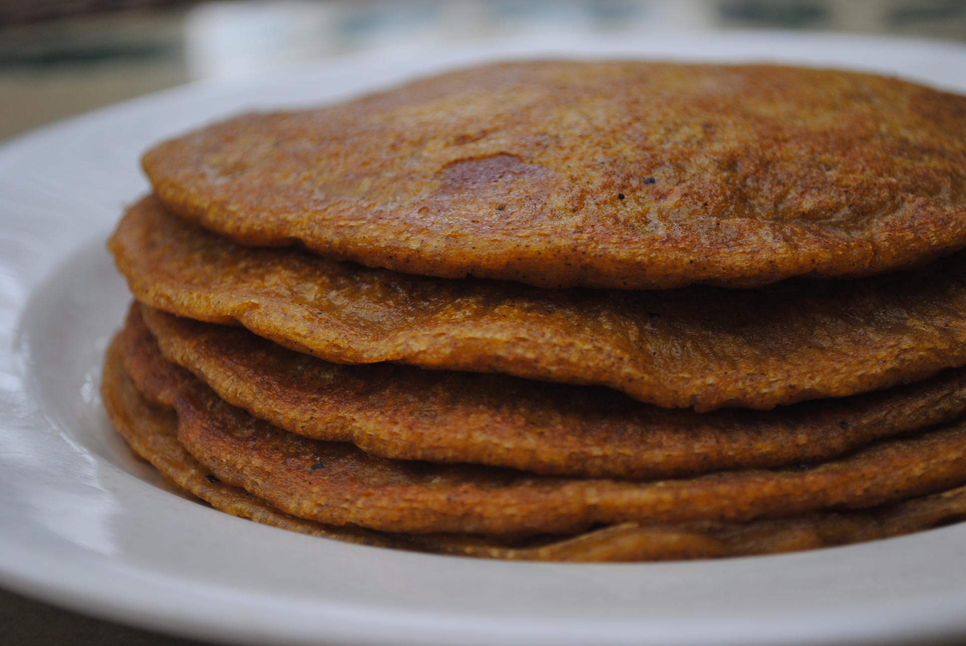 vegan pancakes pumpkin