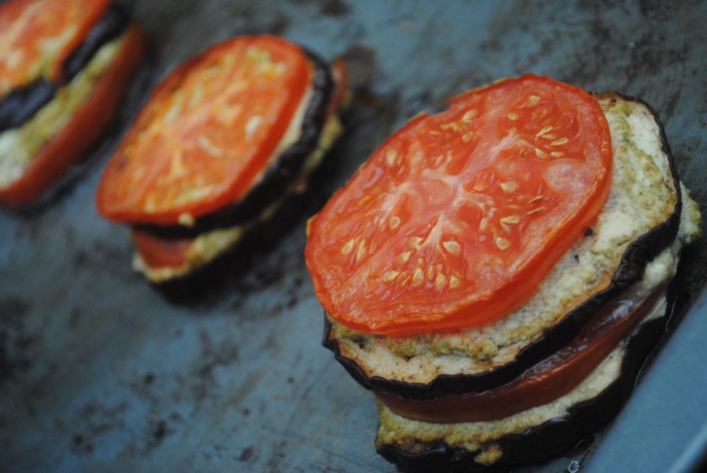 eggplant stacks ricotta