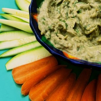 "Artichoke Dip with Avocado <span class=""amp"">&</span> Kale"