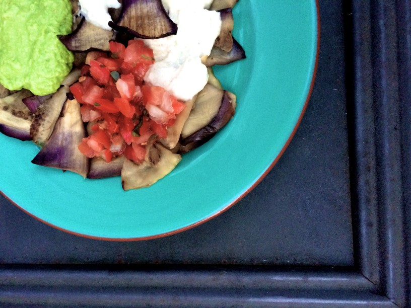 vegan eggplant nachos (2)