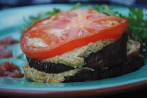 vegan ricotta eggplant
