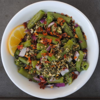 Green Bean Salad with Crushed Red Pepper