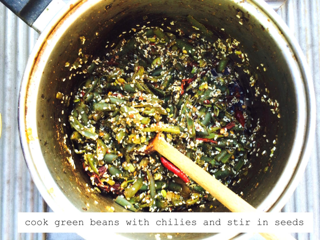green beans with chilies