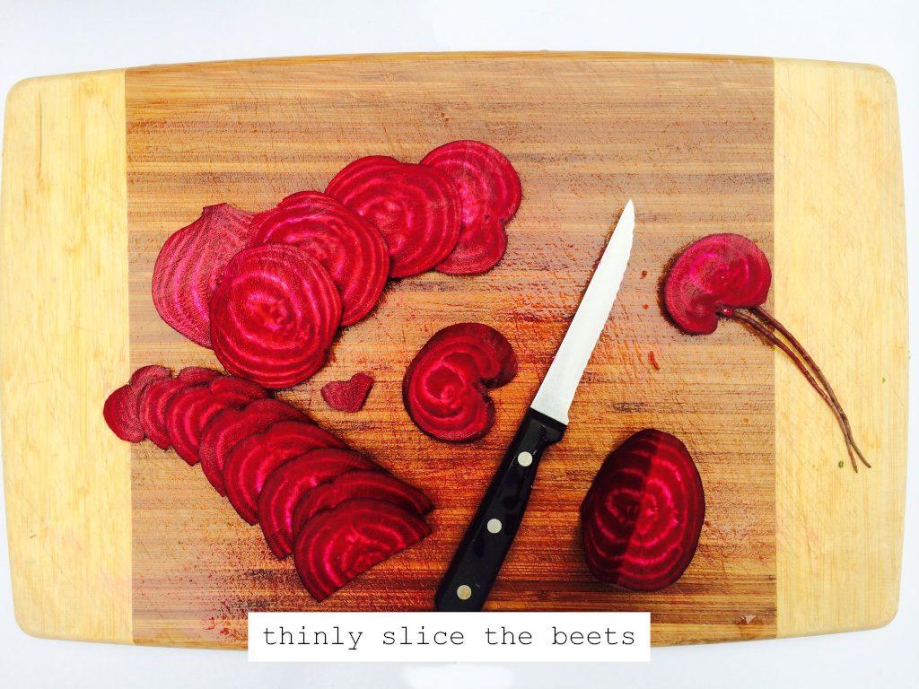 slicing beets