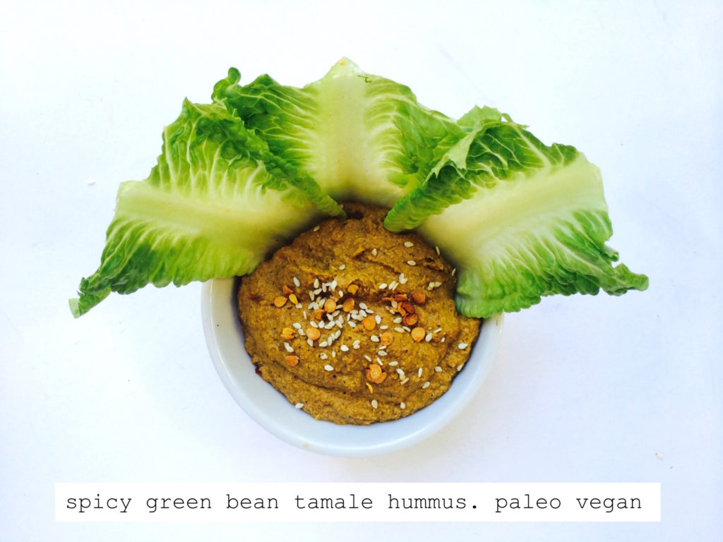 spicy green bean tamale hummus