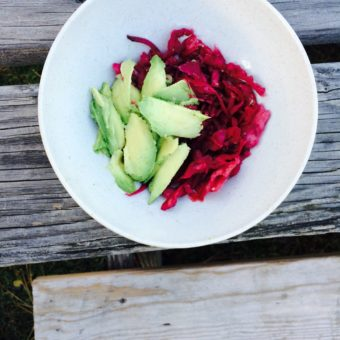 Beet and Red Cabbage Sauerkraut