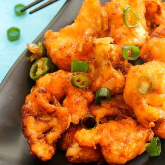"""Asian-Fusion Spicy Cauliflower """"Wings"""""""