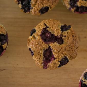 Flourless Banana Blueberry Muffins