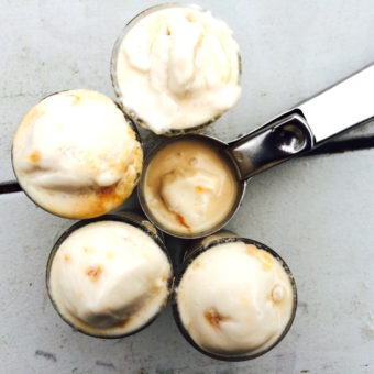 No-Churn Salted Caramel Ice Cream